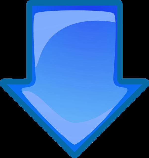 Downward Blue Arrow - ClipArt Best