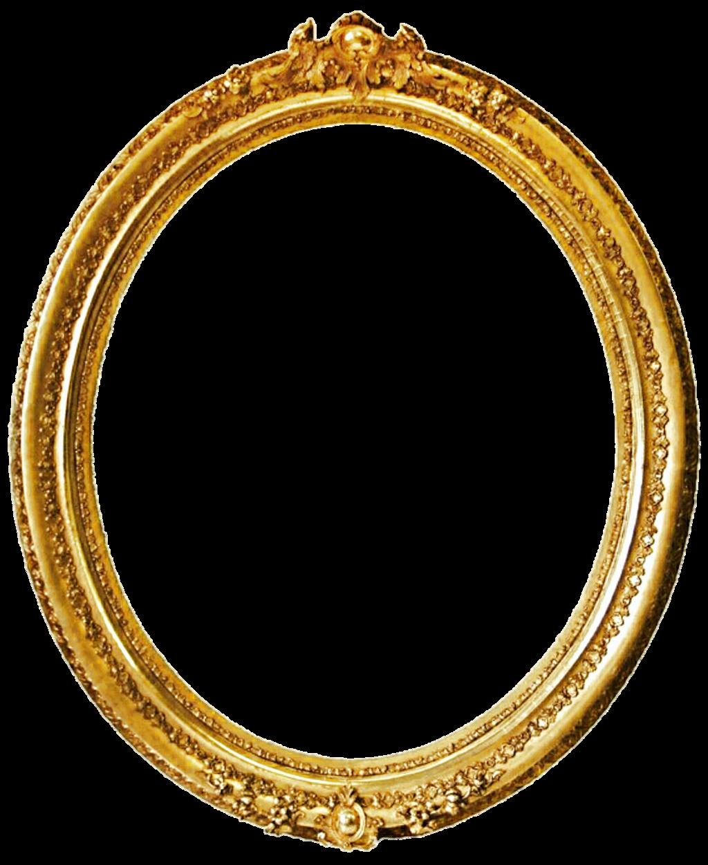 Antique gold frame png