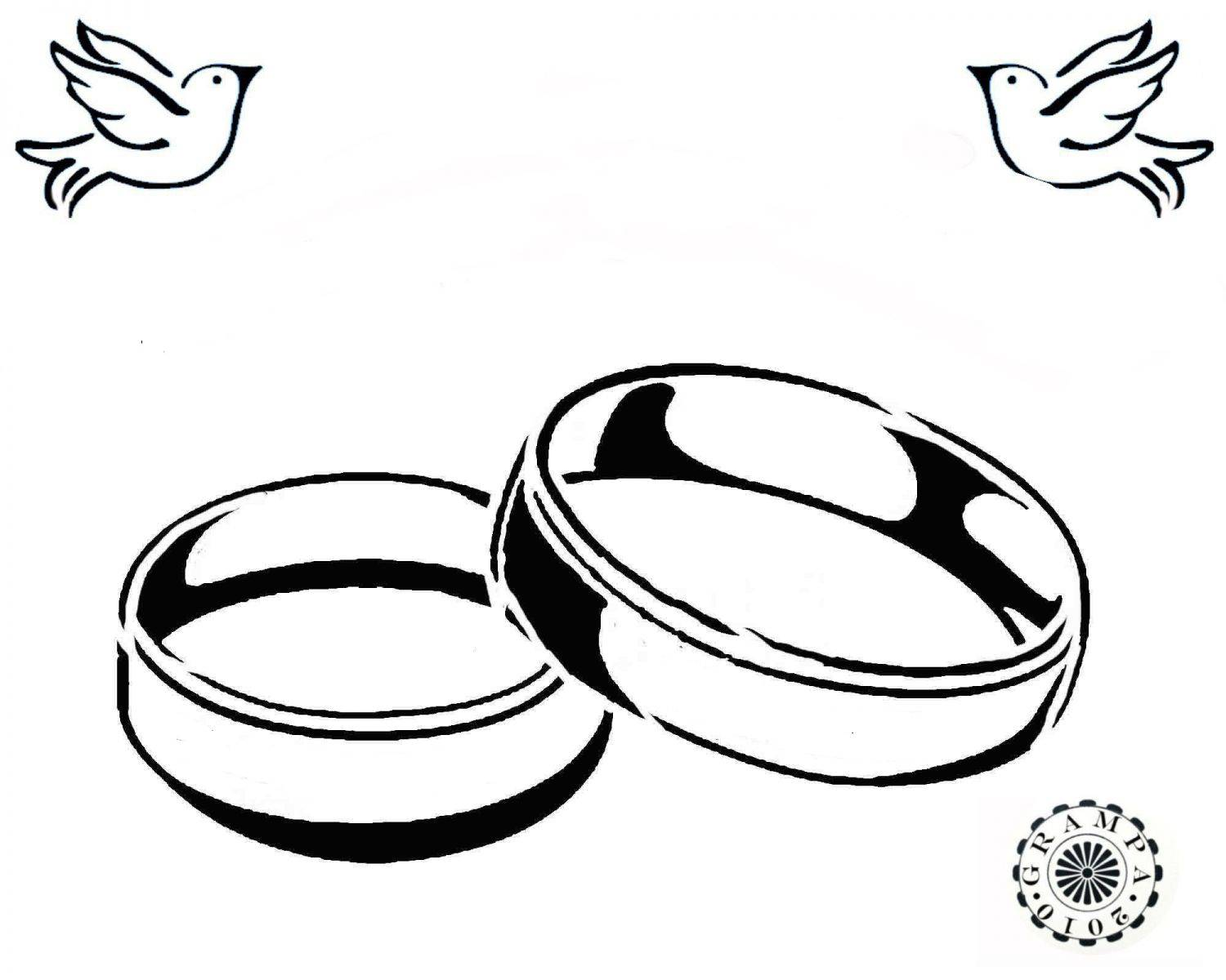 Line Art Wedding : Wedding ring line art clipart best