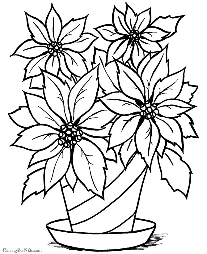 coloring pages flower petals - photo#35