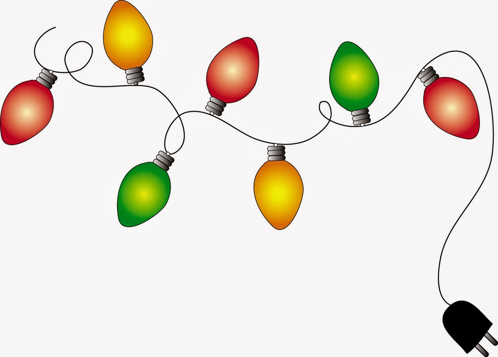 Free animated clipart christmas lights