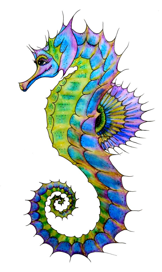Seahorse Art | Seahorse Painting ...