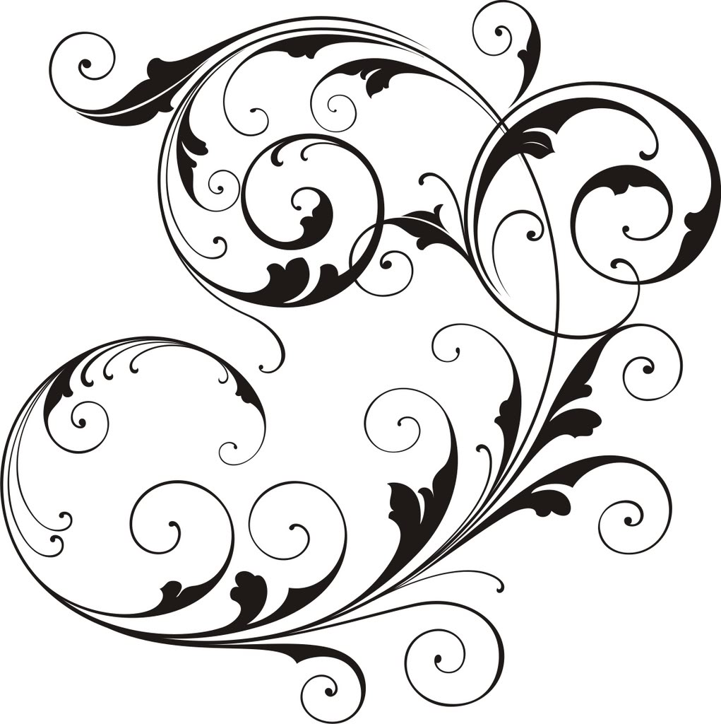 Elegant scroll border