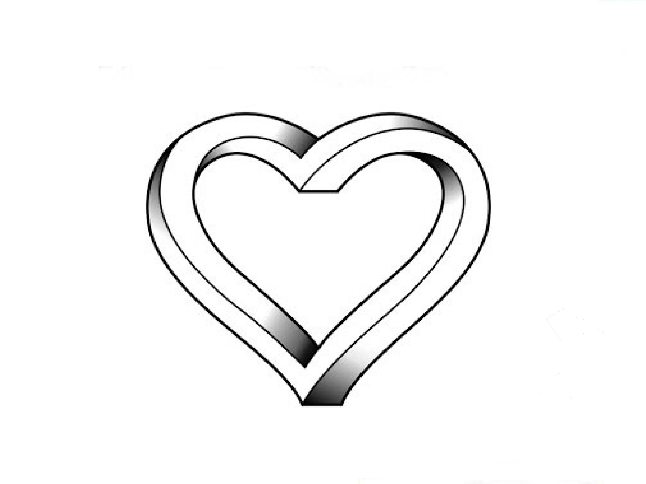 Line Art Love Heart : Line drawing heart clipart best