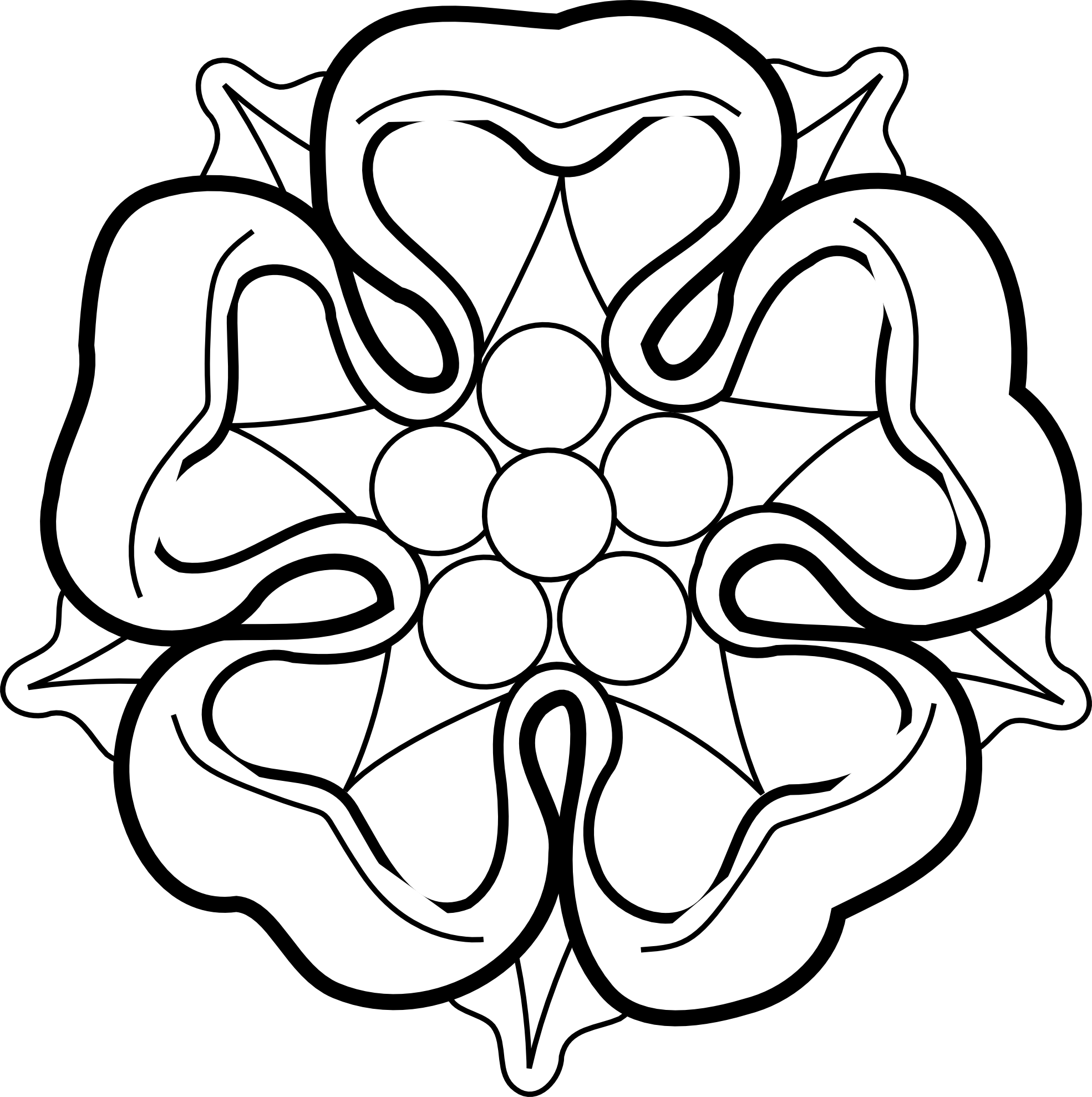Line Art For Coloring : Drawings of flowers in black and white clipart best