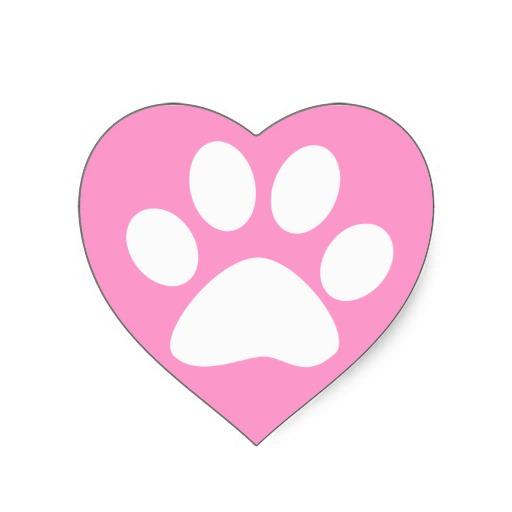 Pink Paw Print Clip Art - ClipArt Best