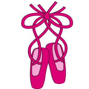 Hot Pink Ballet Slippers Clip Art - ClipArt Best