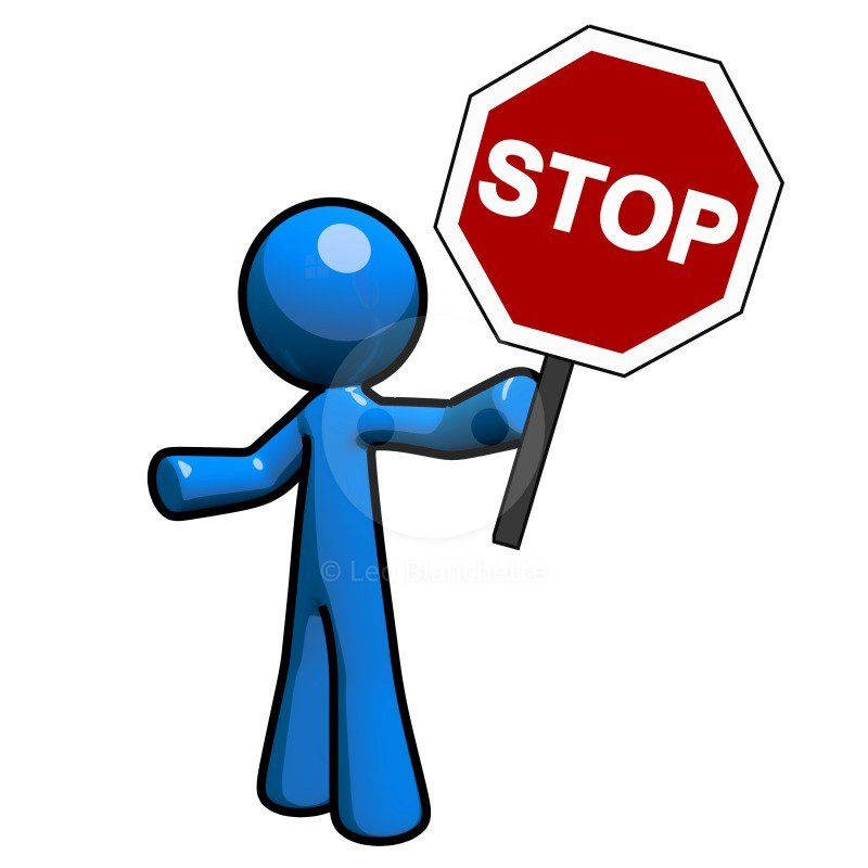 Clipart images of a stop sign