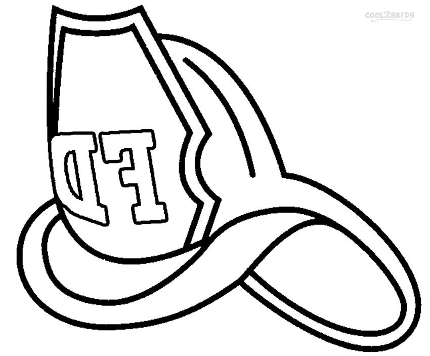 Firefighter Helmet Coloring Page Clipart Best Fireman Hat Coloring Page 2
