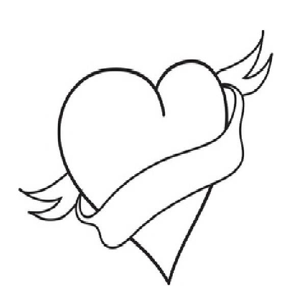 Sad Broken Heart Coloring Pages