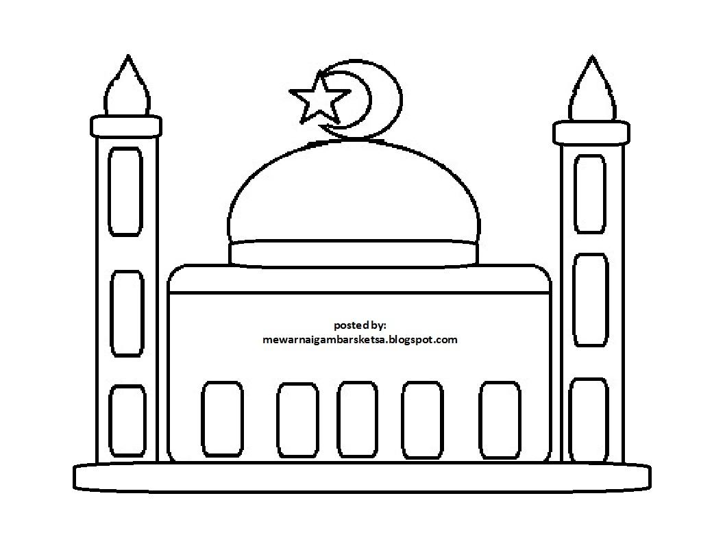 Mewarnai Gambar Mewarnai Gambar Sketsa Masjid 9 Clipart Best Clipart Best