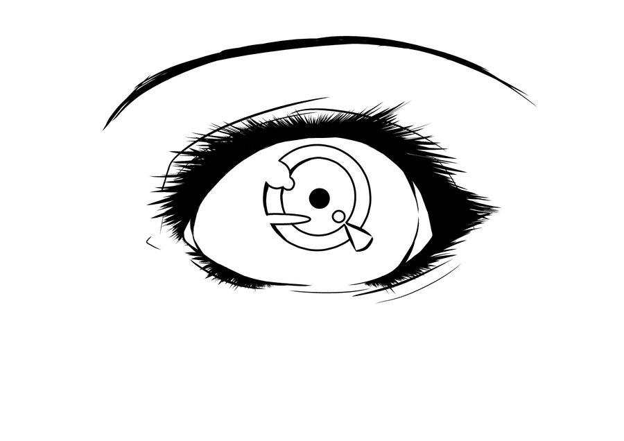Line Drawing Eye : Eye line art clipart best