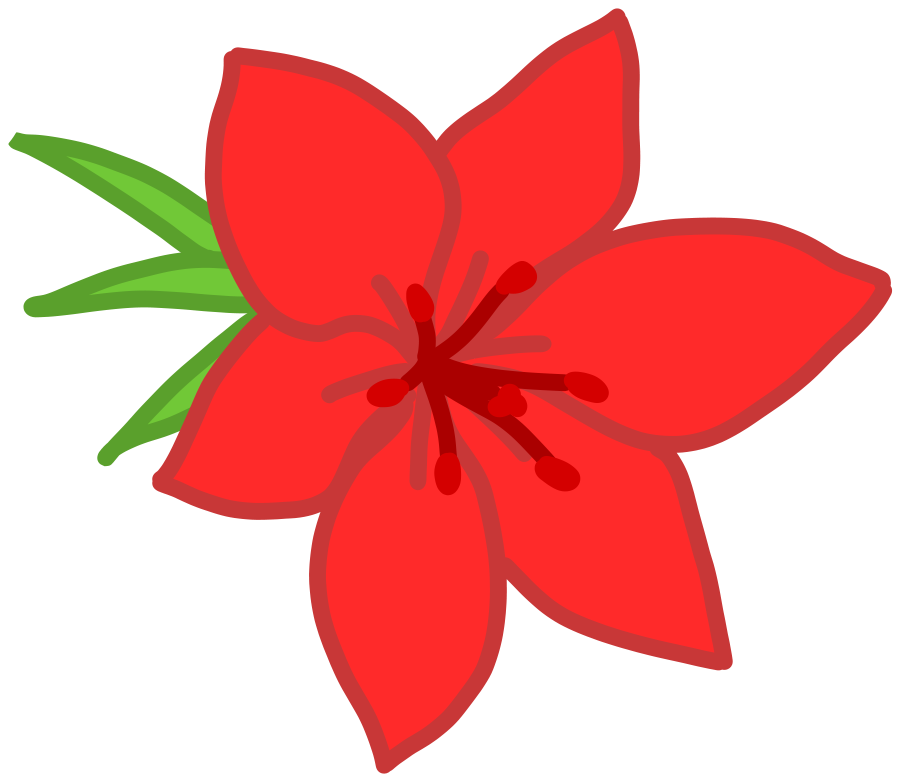 Red Flower Clip   Free...