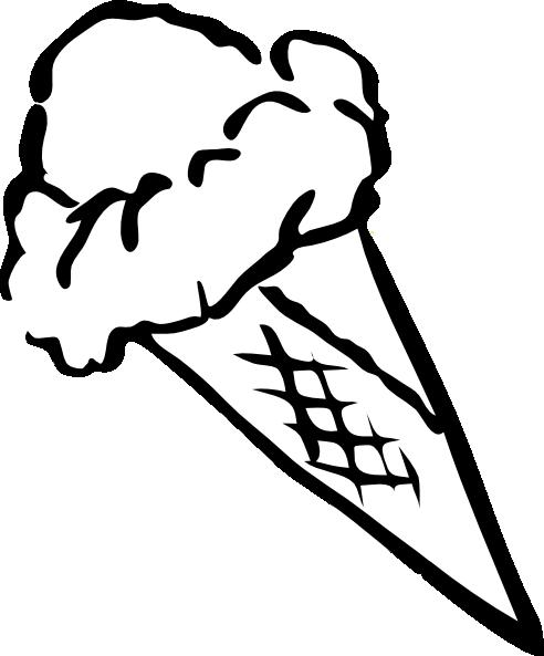 ice cream clip art black and white - photo #25