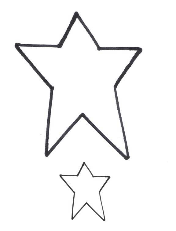 Small Star Template Small star template free print