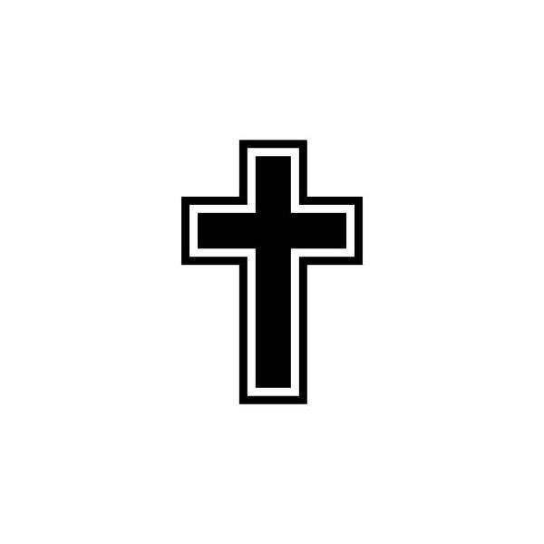 CROSS OUTLINE CHRISTIAN DECAL RELIGIOUS CAR DECAL CAR ...