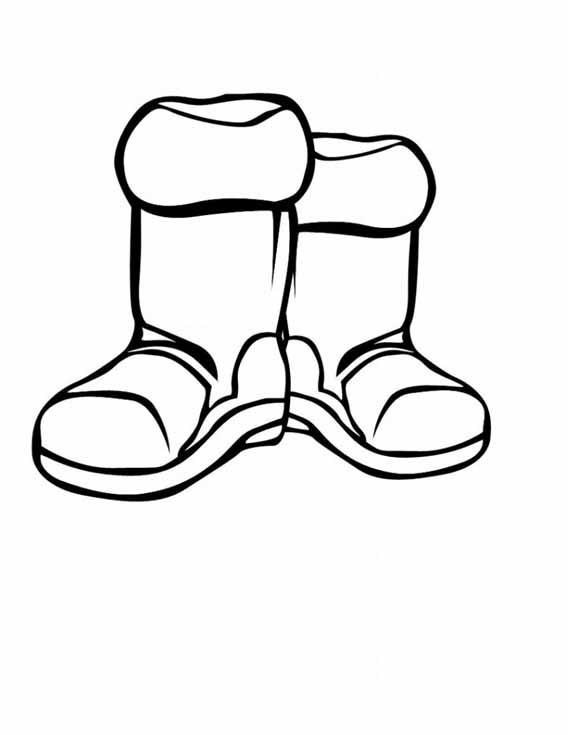 Winter Boots Cartoon