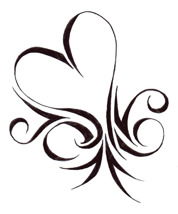 Easy Heart Stencil Designs - ClipArt Best
