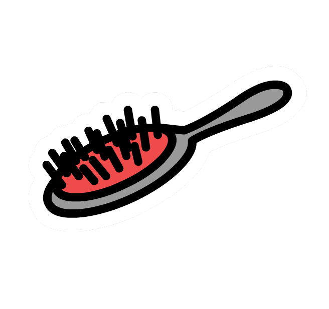 how to clean a hairbrush without a toothbrush