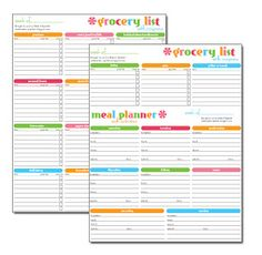 Menu Amp Grocery Planning Organizing Clipart Best