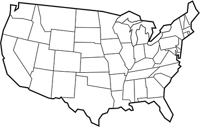 Blank State Map - ClipArt Best