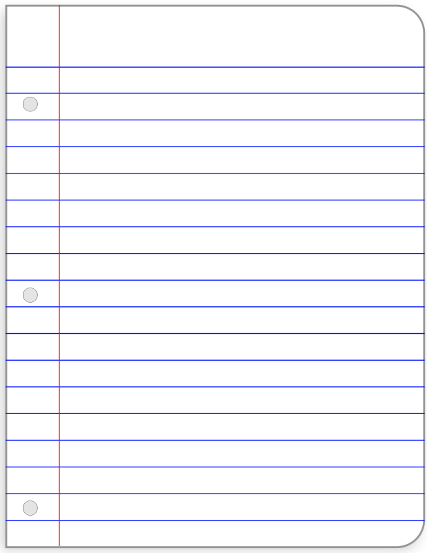 print college ruled paper
