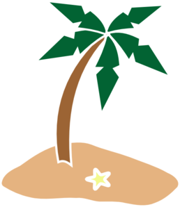 Palm Tree On Island clip art - vector clip art online, royalty ...