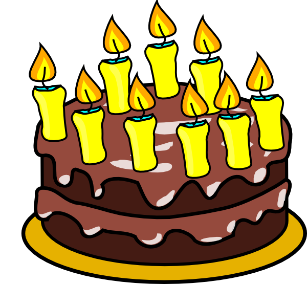 9th Birthday Cake clip art - vector clip art online, royalty free ...