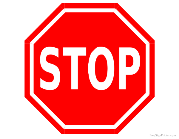 Modest image intended for printable stop signs