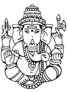 Simple Wall Drawing Ganesh - ClipArt Best