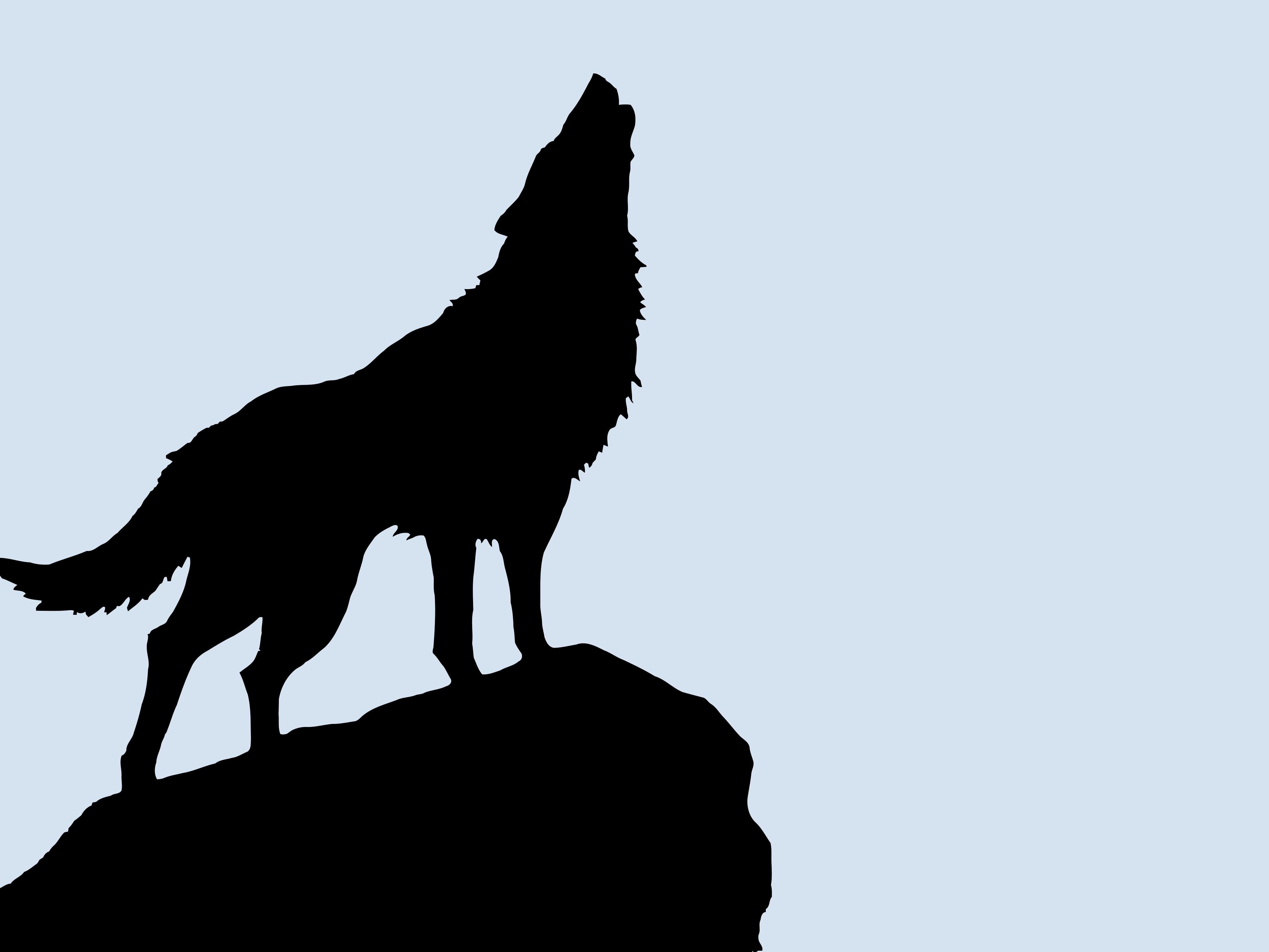 wolf vectorized silhouette art high resolution hd
