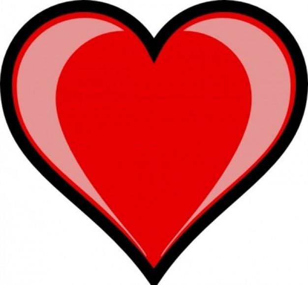free black heart clipart - photo #40