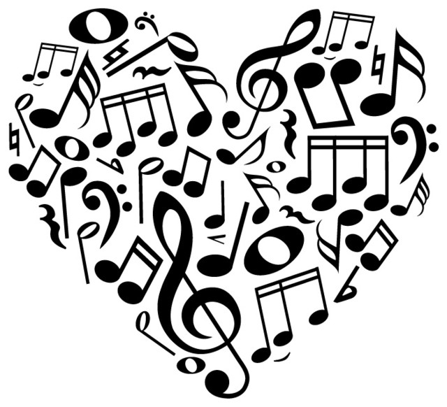Music note heart clipart best for House music symbol