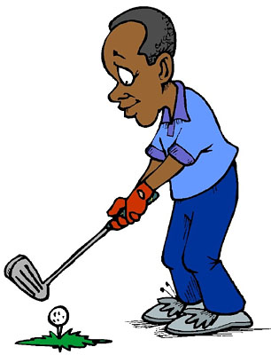 Playing Golf Clipart