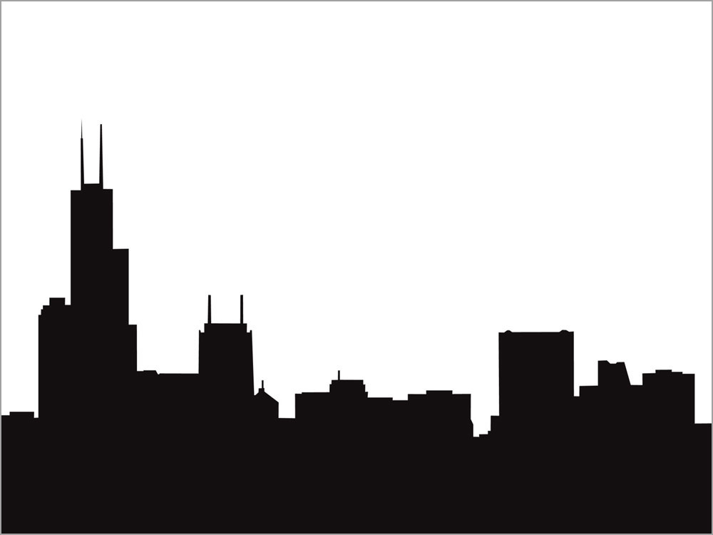 Pin Chicago Skyline Silhouette Christmas Clip Art Pictures on