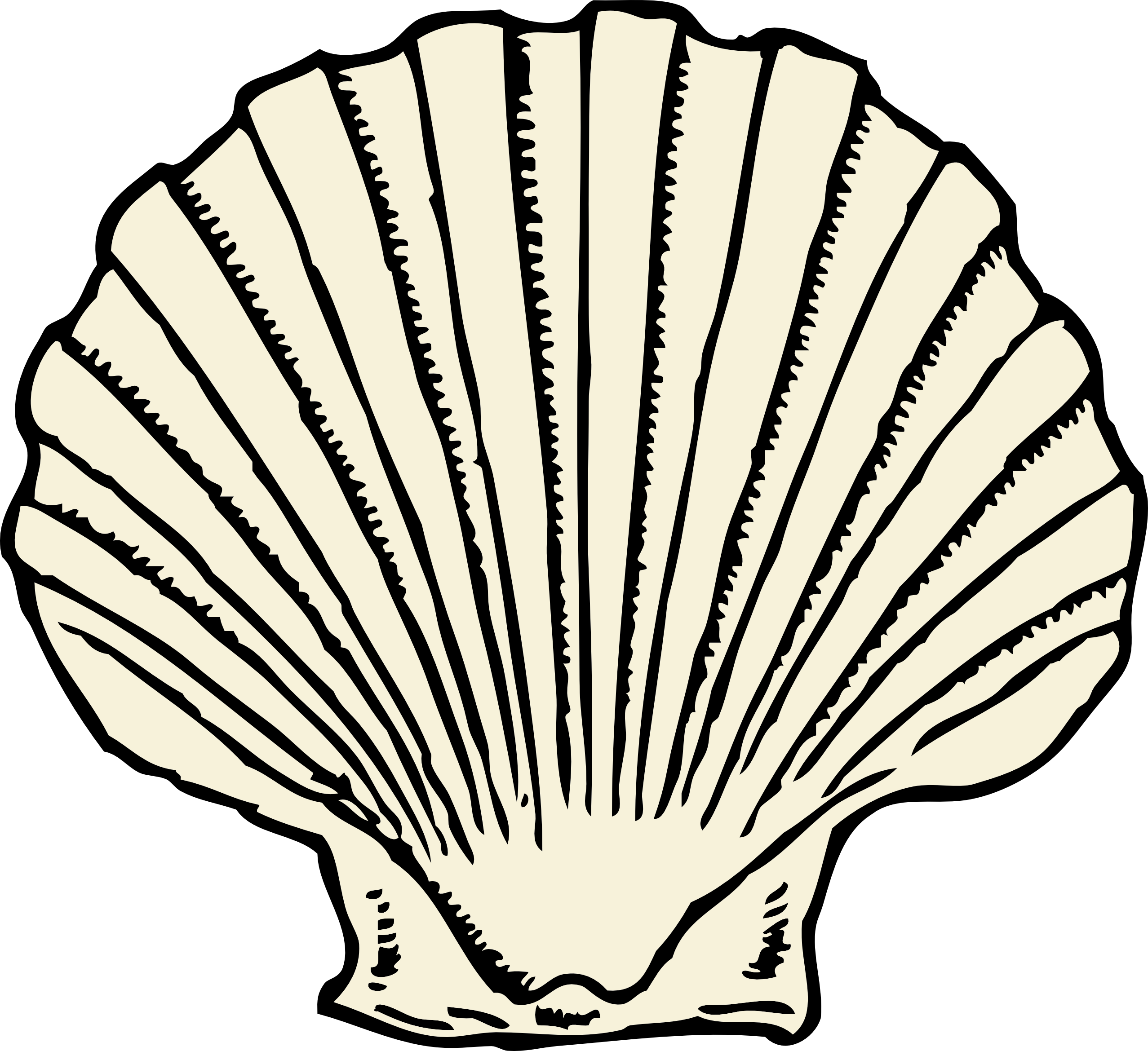 Shells Colouring - ClipArt Best