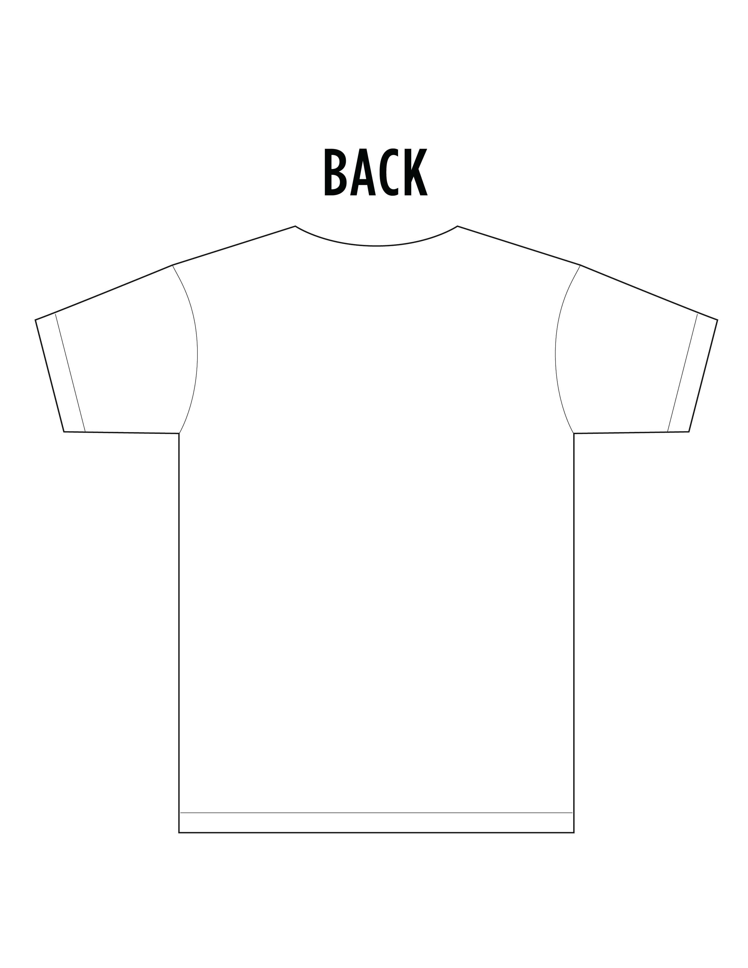 T Shirt Back Design Clipart Best