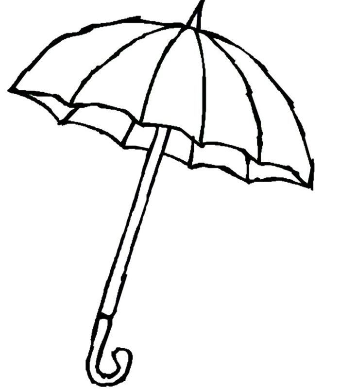 Printable Coloring Pages Umbrella : Coloring Worksheet On Umbrella ClipArt Best