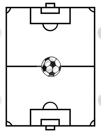 Clipart of soccer field