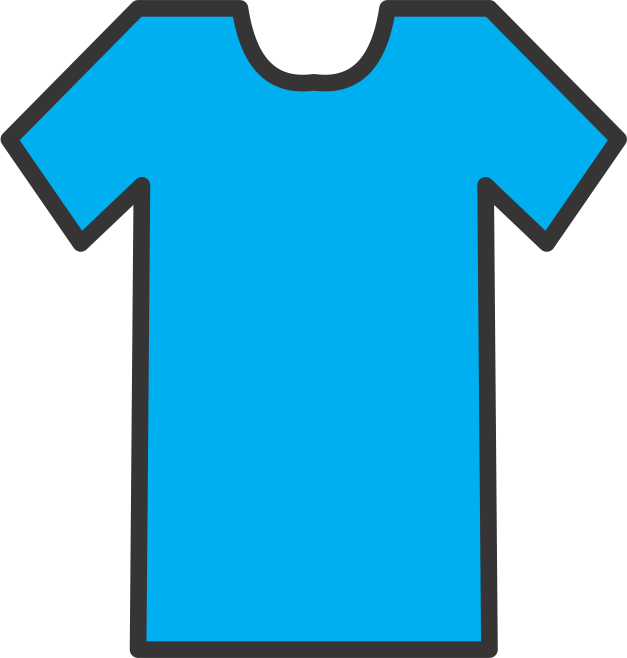 t shirt shape clipart - photo #11