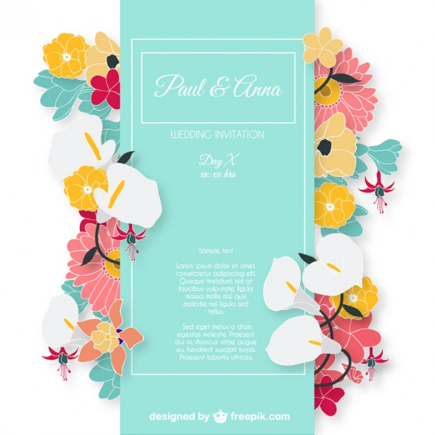 Wedding Invitation Boarders as beautiful invitation template