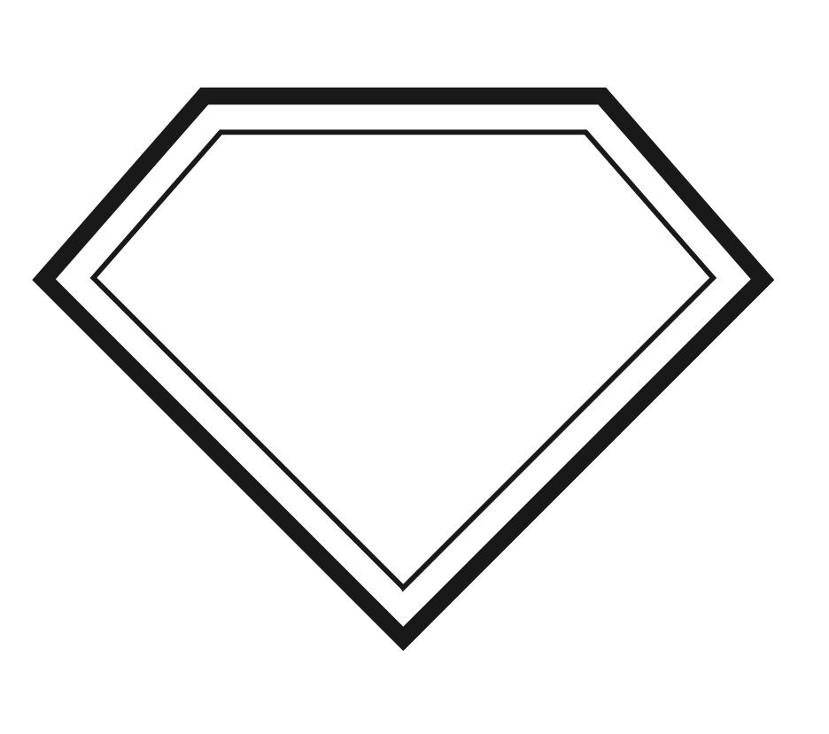 superhero badge template clipart best