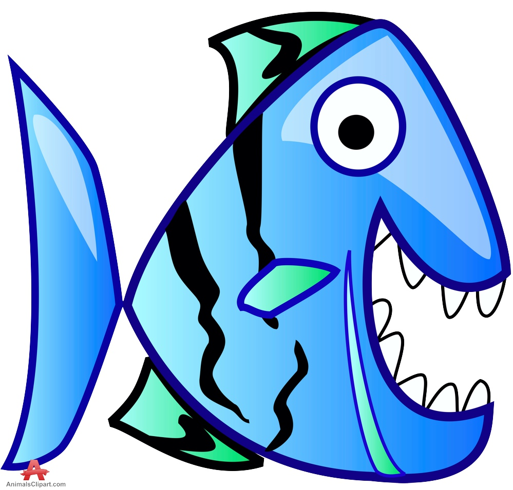 Blue Cartoon Fish Clipart Best
