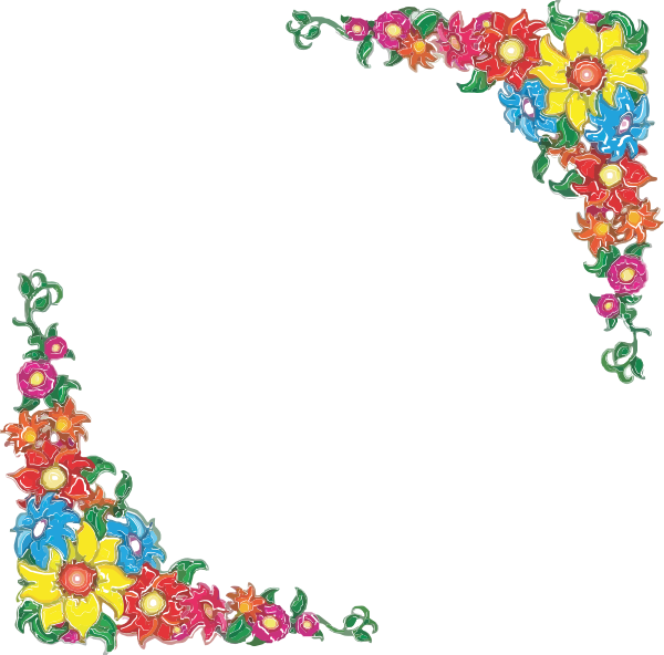 Simple Flower Page Border Designs - ClipArt Best