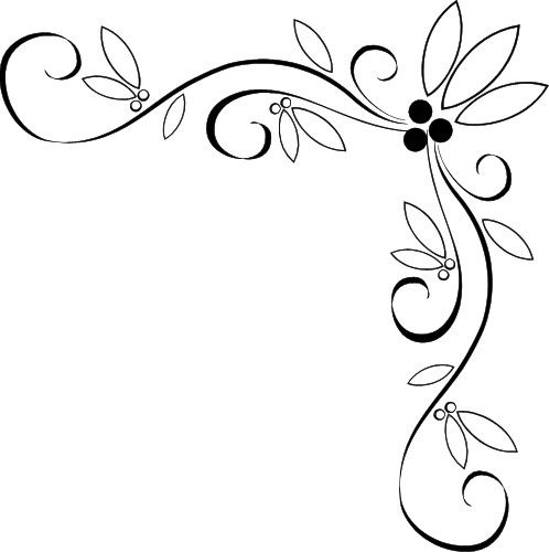 Fancy Corner Border Design Elegant Corner Borders Fancy