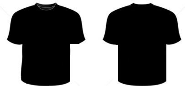 White black mens polo tshirt front back and side views