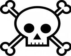 Girl Skull And Crossbones Template Clipart Best
