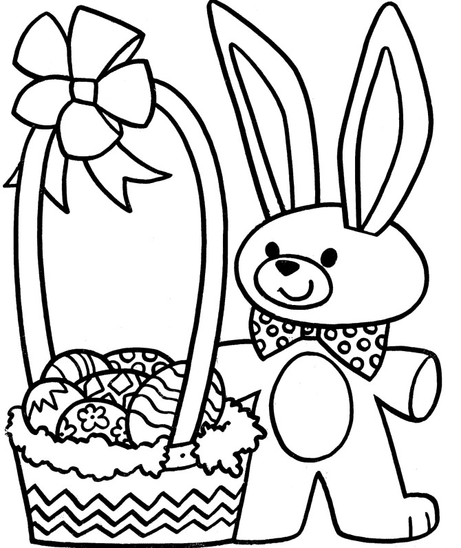 Easter Egg Basket Coloring Pages - ClipArt Best