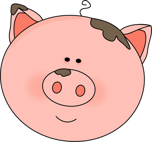 cartoon pig face how to draw