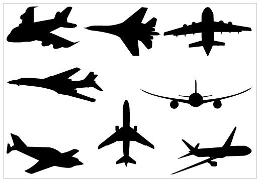 free airplane clipart vector - photo #37